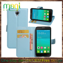 Custom cell phone case free sample case for ALCATAL IDOL X+ hard PU+PC cover