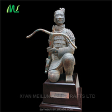 Kneeling archer terracotta warrior statue for souvenir gift