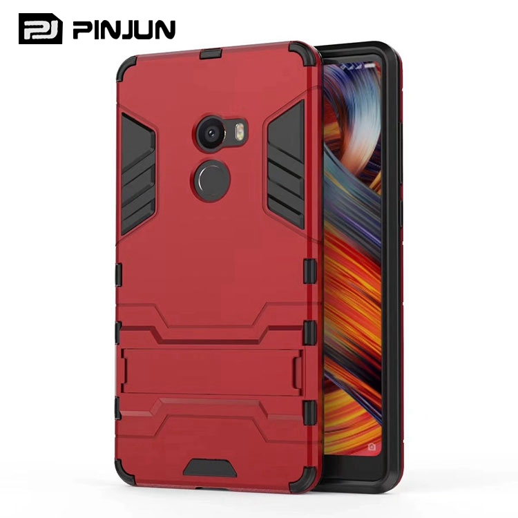 Dual layer iron man armor hybrid kickstand case for xiaomi mi mix 2 ,for xiaomi mi mix evo case rugged