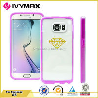 Factory wholesale high quality case for samsung galaxy s6 tpu pc phone cover