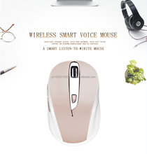 2017 New mouse Voice Input Typing Mouse Smart Voice Mice USB Optical 2.4G Wireless Mouse For Computer PC Laptop Desktop with