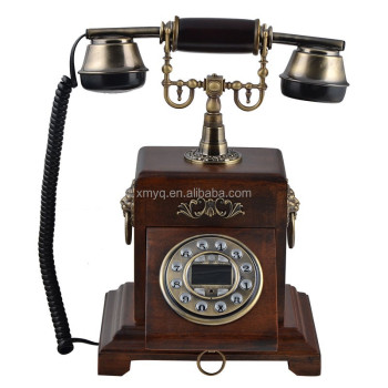 Antique Wood Classic Retro Caller Id Phones For Home Decor