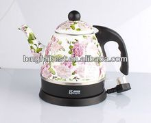 0.8L beautiful enamel electric water kettle with full decal
