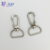 Quick release silver oval shaped metal clip swivel snap hook