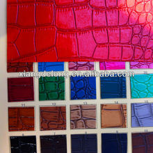 PU Croco Leather for making handbags, Synthetic Crocodile leather,handbags material
