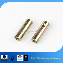 Zinc plated long brass nut with inner thread and hole