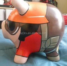 customized colorful pig shaped plastic vinyl toys/factory design your own animal vinyl toy/make pve vinyl toys supplier