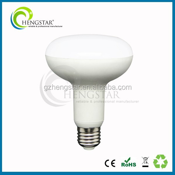 Indoor using plastic outside high lumen super bright e27 base 10w good price best selling ,e27 led bulb lamp r63 for office