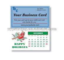 Magnetic Business Card Calendar Printing