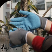 SRSAFETY 13 gauge blue latex gloves sales good latex gloves working gloves in china