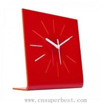 Custom acrylic table clock with L-shaped stand