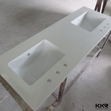 solid surface bathroom countertops with built in sinks