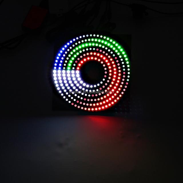 color changing magic LED halo rings kit angel eyes 130mm for universal car
