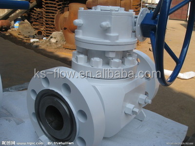 KS TT Series Top Entry Forged Trunnion Mounted Motorized Stainless Steel Ball Valve Price