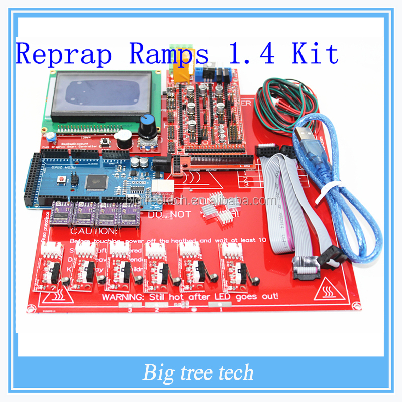 consumer electronics Reprap Ramps 1.4 kit +Mega 2560 +Heatbed mk2b + 12864 LCD Controller + DRV8825 + Mechanical Endstop+ Cables