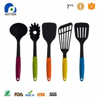 Home utensil sets 5-pieces silicone kitchen cooking utensils made in China
