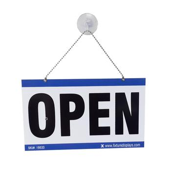 Custom Acrylic Open Closed House Hanging Sign for Shop