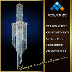 high end sexy stairway lighting modern crystal chandelier