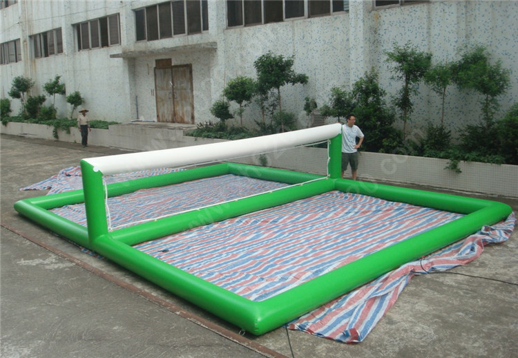 inflatable volleyball court water game