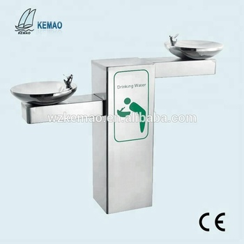 Stainless steel outdoor cold water 2 bubbler faucet drinking water fountain system/water cooler/machine