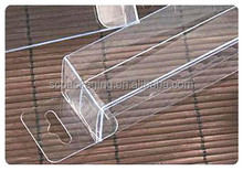 cuting folding clear pvc pet plastic box with handle