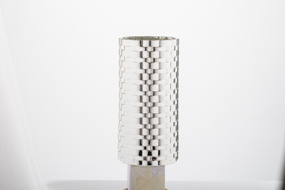 Silver and Glass Vase