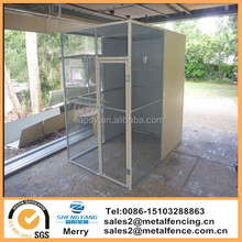 With block Galvanized or Aluminum construction of the aviary cages for birds rodents cats and dogs.