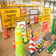 Traffic facilities Traffic signs cones stands