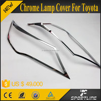 JC Sportline Car Exterior Accessories 2pcs/set Headlight Lamp Shade Bezel Moulding Cover Chrome For Toyota RAV4 2014 2015