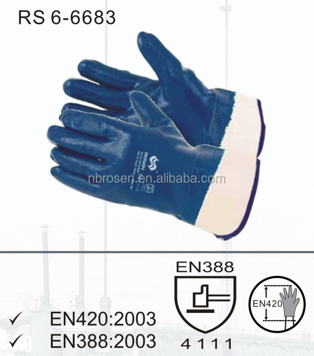 RS SAFETY warm keeping heavy duty oil field industrial safety gloves in cotton