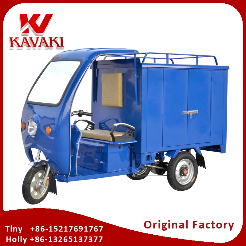 Kavaki New Quality Bajaj Type Three Wheeler FOB Price Express Tricycle Adult Electric Tricycle Closed Cabin