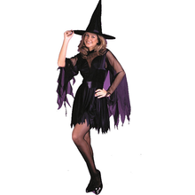 2016 wholesale Gothic Witch Halloween Costume witch costome