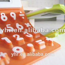 Folded Silicone waterproof small basic calculator
