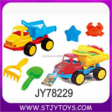 Summer toy Beach Sand Toy Truck Playset With Sand play Tools
