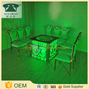 wholesale wedding furniture 8 or 12 seaters 12mm thick tempered glass dining table