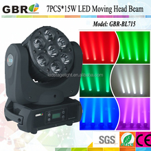2014!!new 15w*7pcs led moving head beam light GBR 15w*7pieces led moving head beam light dj