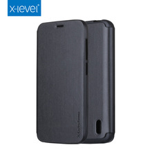 2015 hot selling X-level folding PU leather filp cover for Huawei Y625 case with Holder