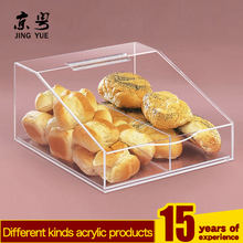 plexiglass bread cookies display custom acrylic food bakery display case