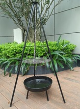 Swing Charcoal Grills Outdoor Tripod Charcoal BBQ Grills