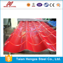color coating steel/glazed metal roof tile/corrugated metal roof sheet