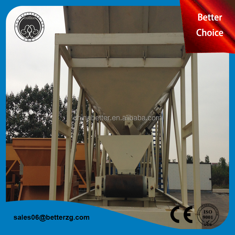 China concrete batching plant layout drawing 25m3 h