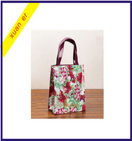 New design glassy colorful plastic pvc shopping tote bag