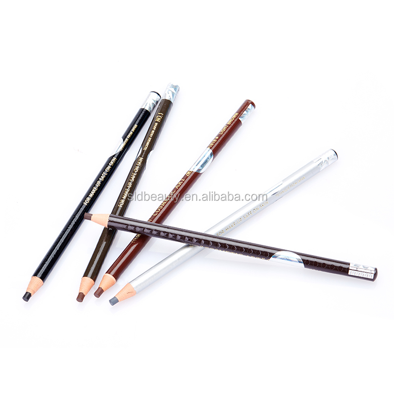 Permanent Makeup 12pcs per box Paper Roll Cosmetics Pull waterproof Eyebrow Eyeliner Pencil 6 colors