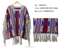 fake cashmere tassel poncho scarf England Stylish young girl pashmina shawl winter warm knitted cape