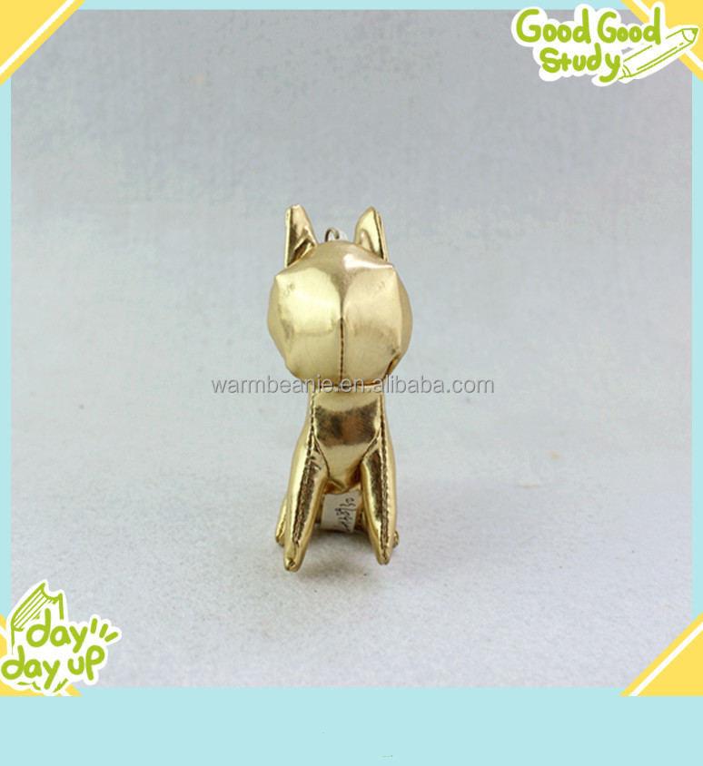 PU material made cute cat toys keychain