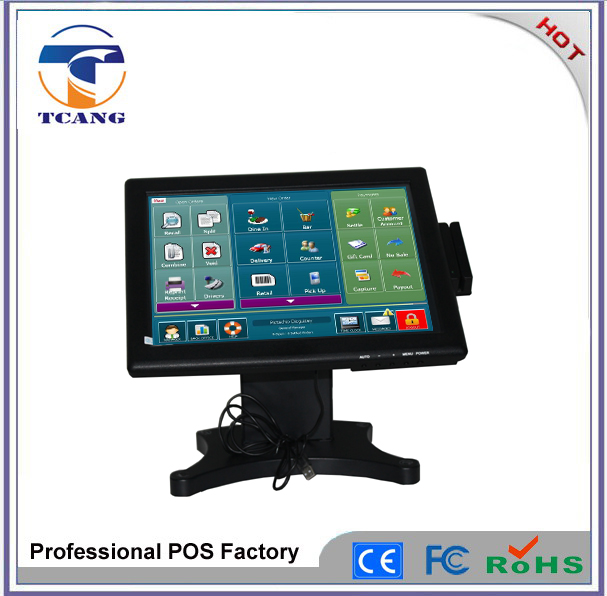 Hot selling 15 inch touch screen monitor usb with built in computer