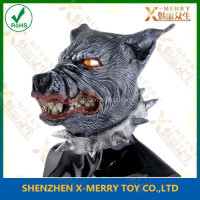 X-MERRY Top Selling Halloween Terror & Crazy Mask Black Wolf From Hell Halloween Carnival Party Latex Mask