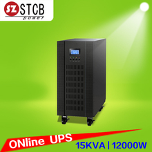 Office power supply three phase input single phase output 15kva ups