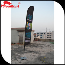 mobile display shape knife flag/Outdoor flag banner stand/cheap teardrop banner