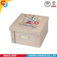 folding cardboard storage box, for your kid's christmas present,also for under bed storage,, multipurpose